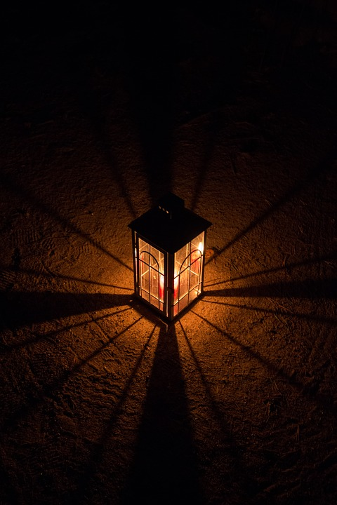 Lantern, Candle, Light, Shadow, Night, Dark, Atmosphere