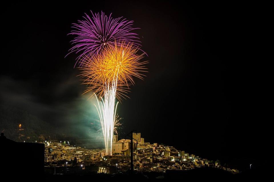 Fireworks, Light, Pyrotechnics, Explosion, Night, Fires