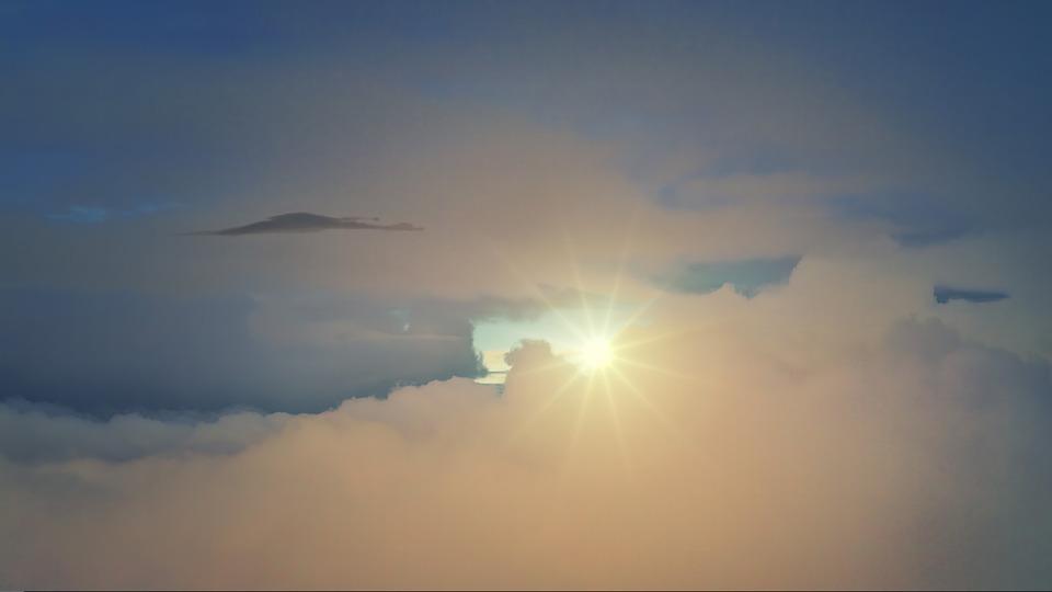 Clouds, Sun, Freedom, Air, Height, Light, Bill, Sunset