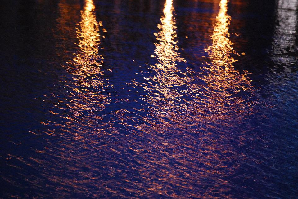 Water, Light, Reflection, Gdańsk, Abstraction