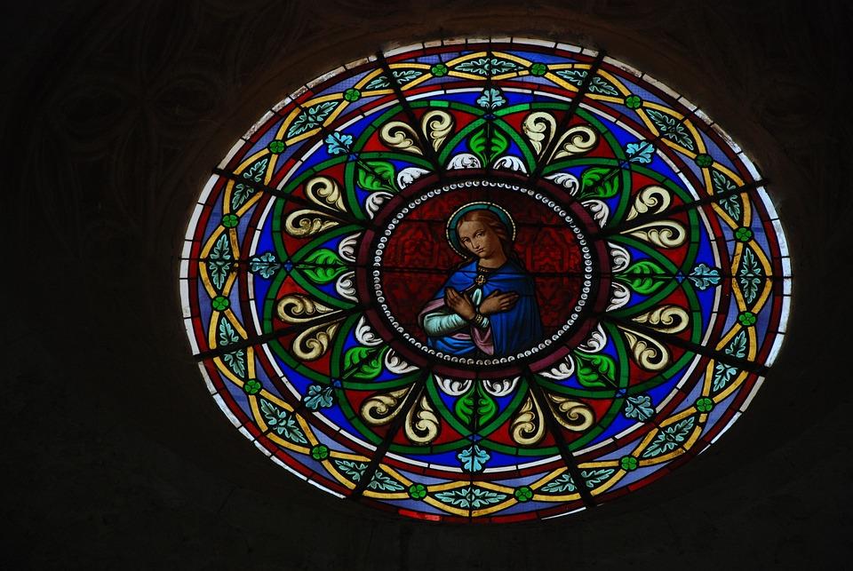 Stained Glass, Glass, Church, Religion, Light, Window