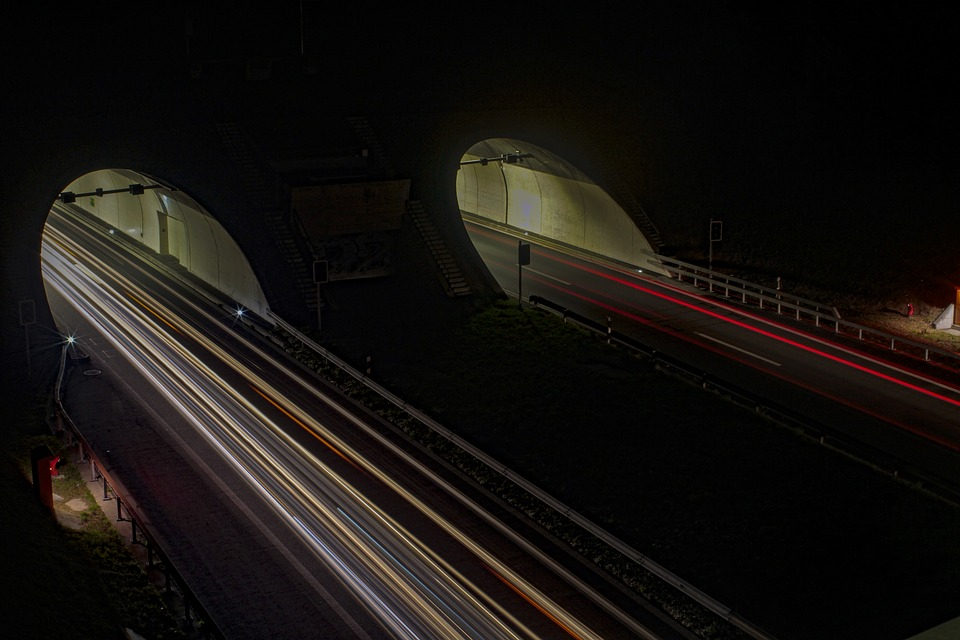 Light, Long Exposure, Auto, Lights, Night, Highway