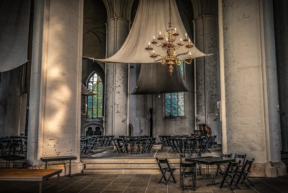 Church, Interior, Community Hall, Light