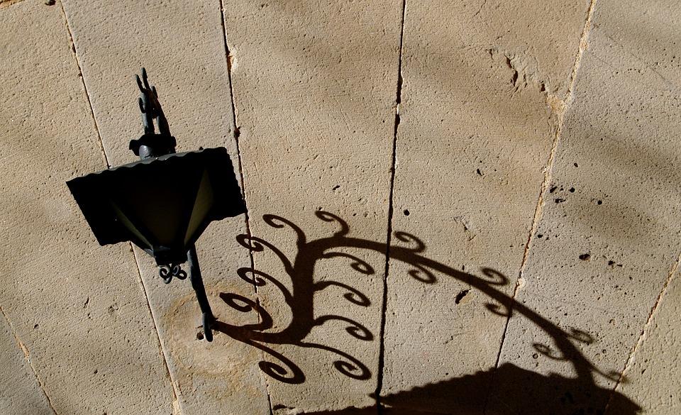 Lamp, Light, Shadow, Wall, Design