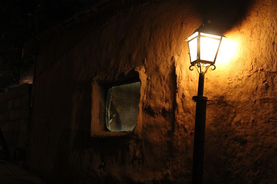 Light, Lantern, Night, Adobe, San Pedro De Atacama
