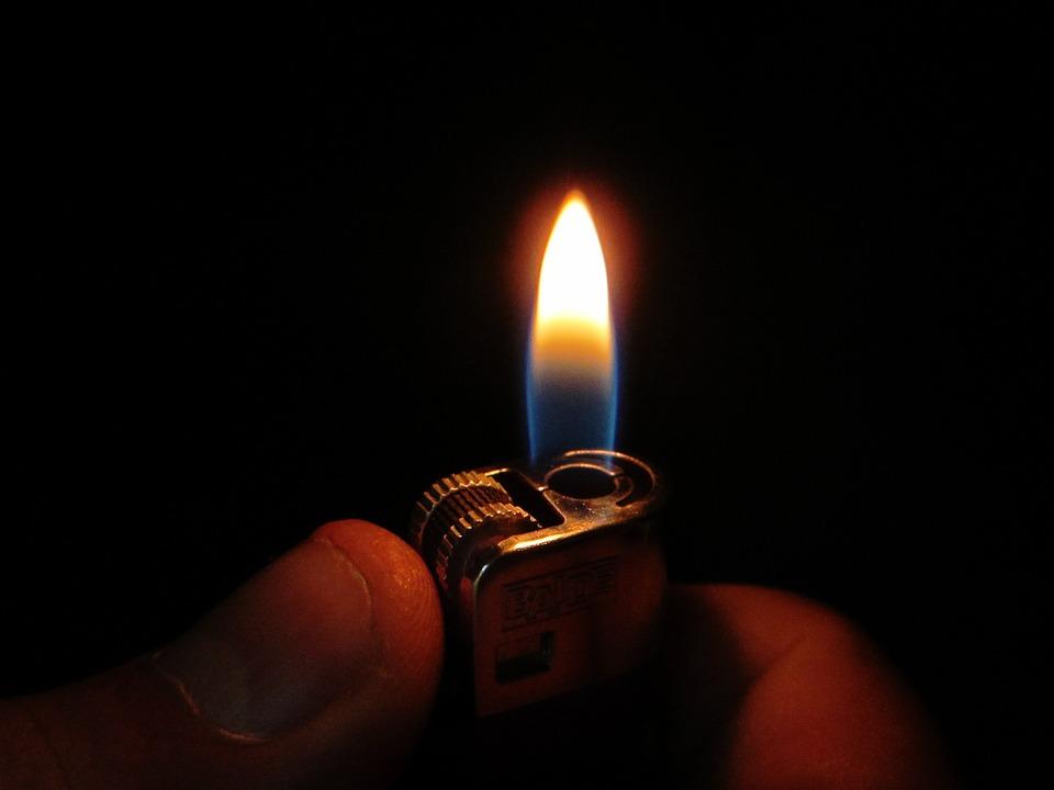 Lights, Flame, Lighter, Light, Turn On, Yellow, Night