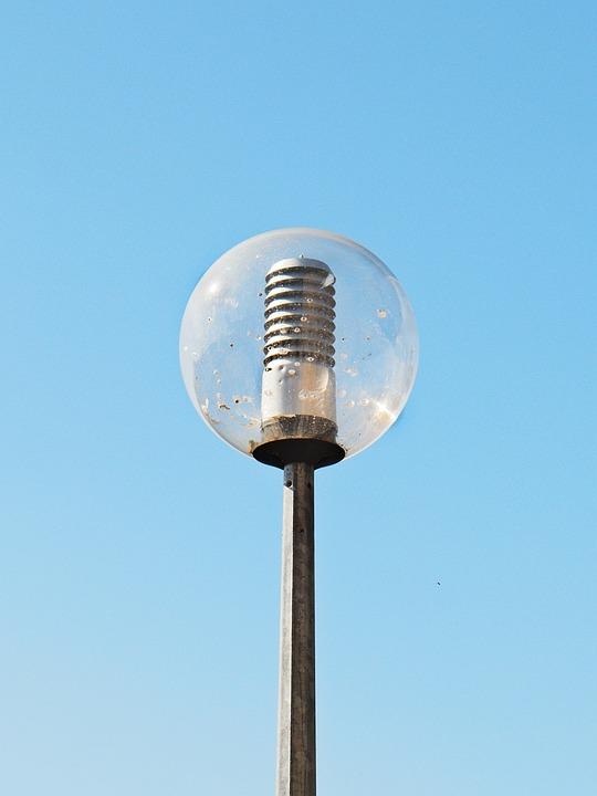 Floor Lamp, Luminaire, Lighting, Light, Sky, Blue
