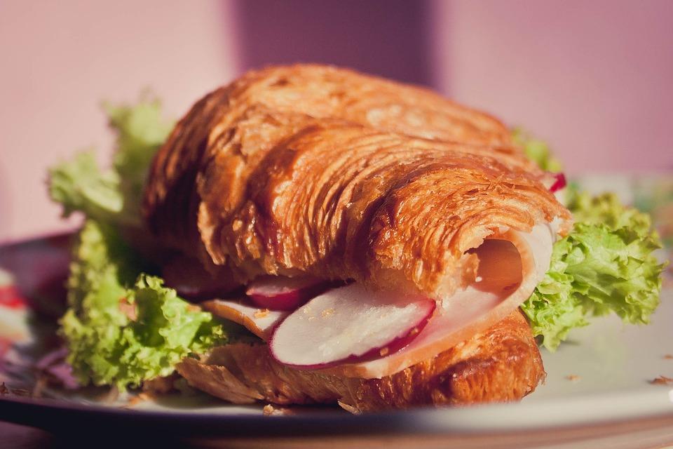 Croissant, Sandwich, Light, Food, Morning, Salad