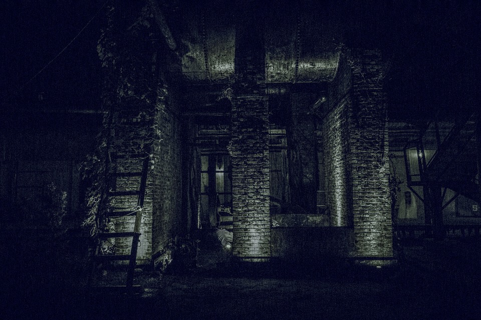 Dark, Abandoned, Light, Mystery, Black And White, Ghost
