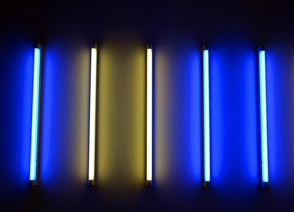 Neon Tube, Neon Light, Light, Art Installation, Art