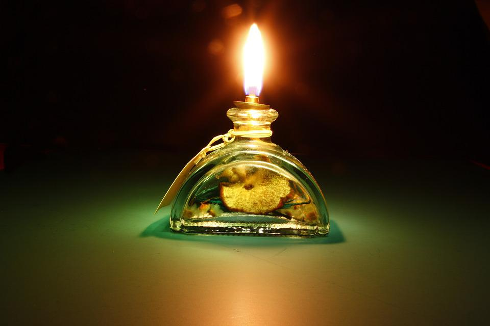 Light, Oil Light, Green, Glass, Burn, Bill, Fragrance