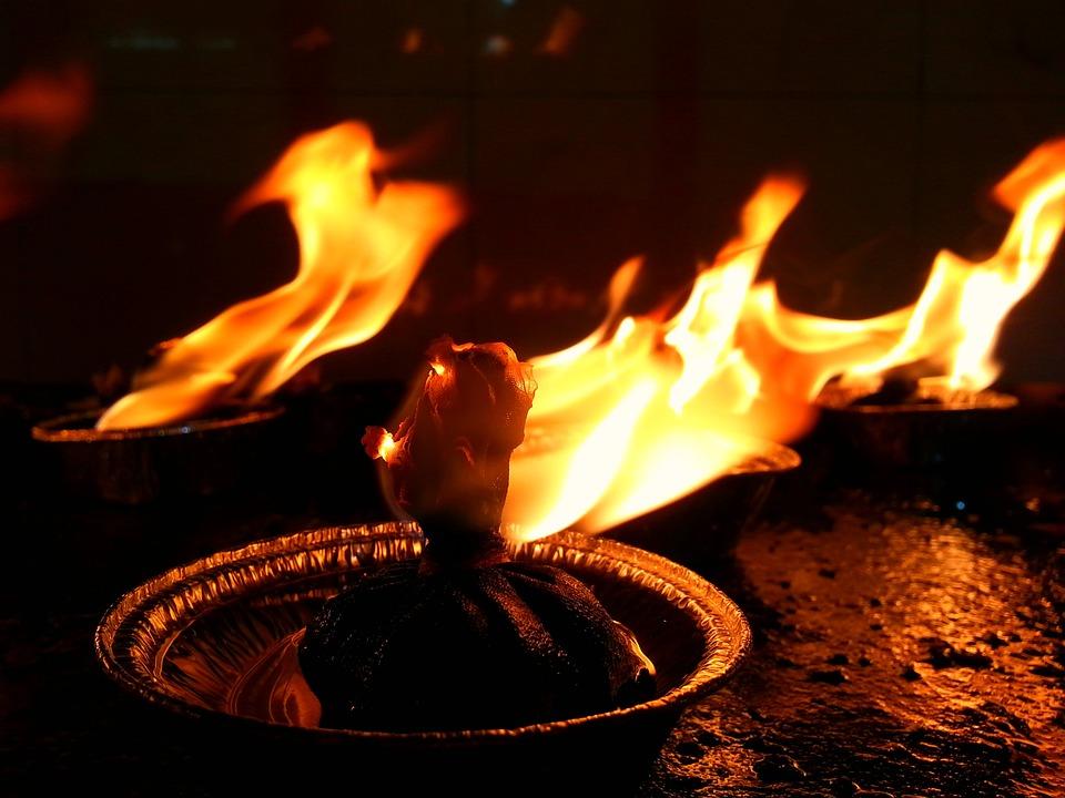 Diya, Deepam, Oil-lamp, Flame, Oil Lamp, Light, Oil