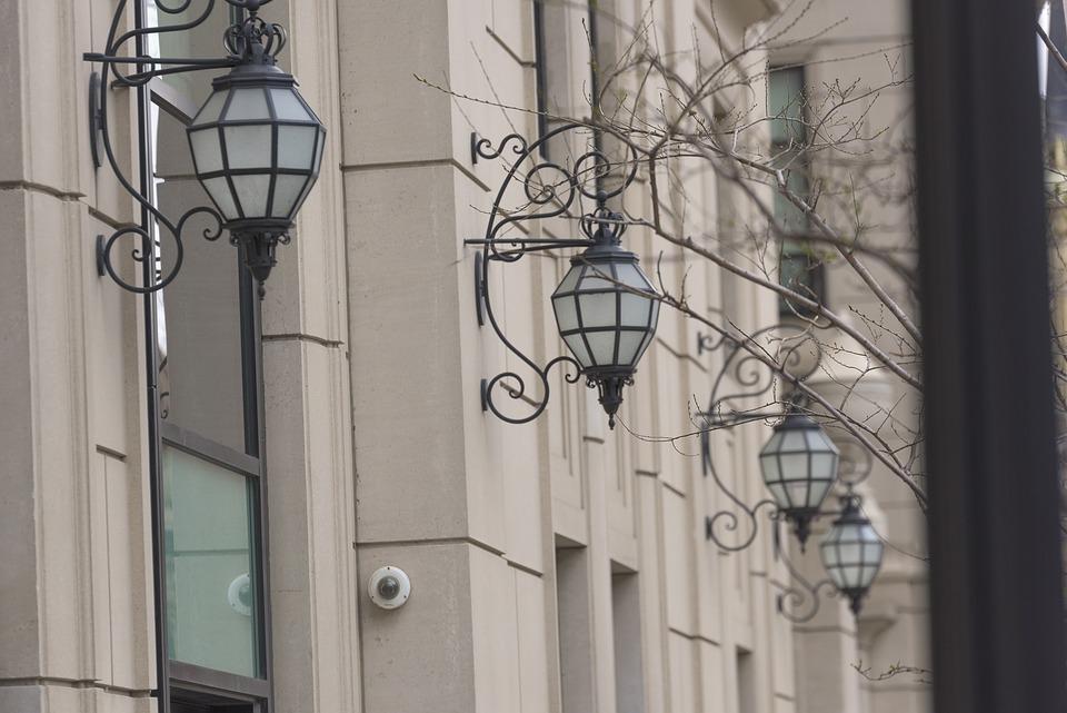Lamp, Exterior, Light, Ornate, Chicago, Architecture