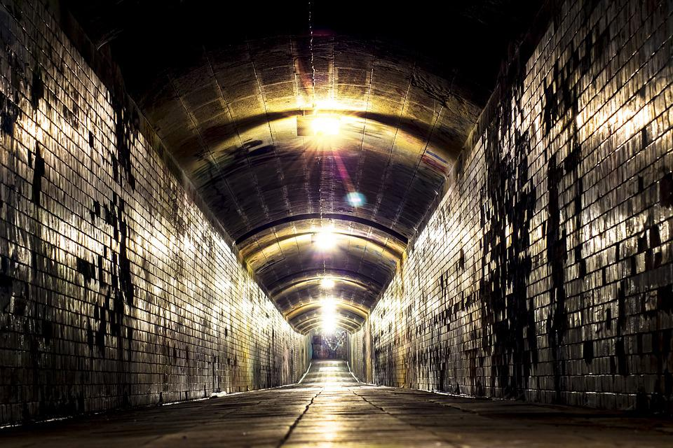 Tunnel, Underpass, Light, Passage, Freiberg