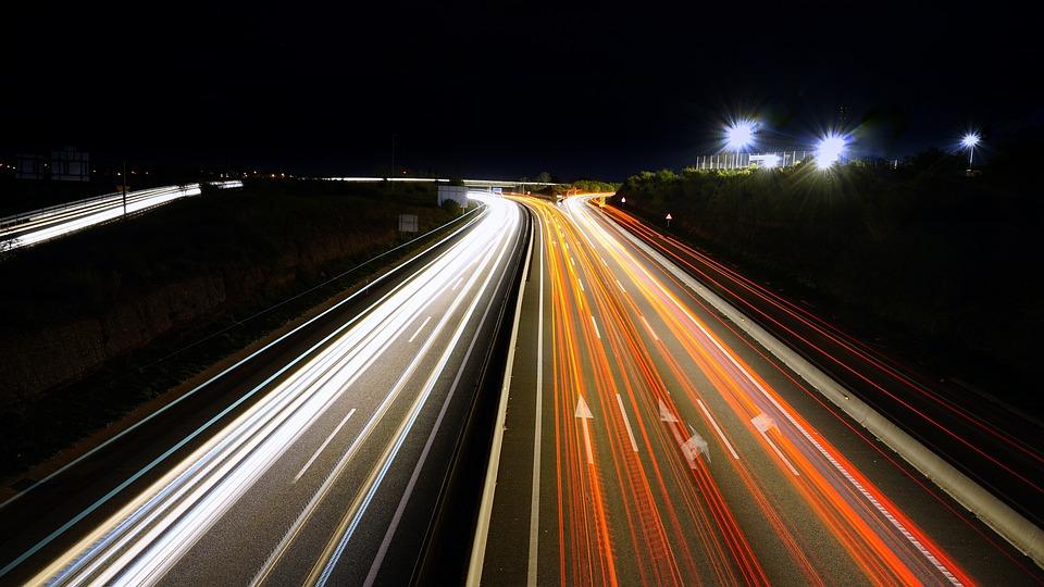 Stelae, Light, Cars, Photography Night, Transit, Roads