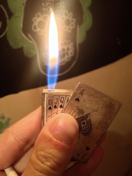 Lighter, Poker, Quinte, Flame, Light, Fire, Turn On