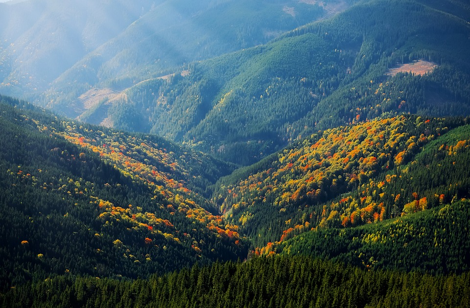 Mountain, Rays, Hill, Nature, Landscape, Travel, Light