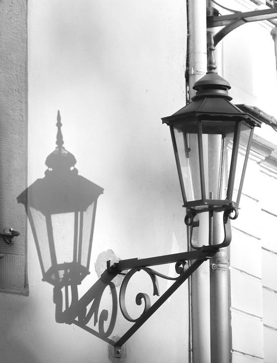 Lantern, Light, Shadow, Perspective