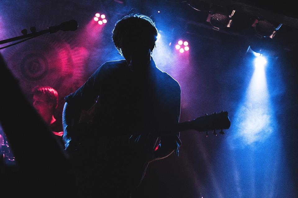 Concert, Colors, Guitarist, Light Show, Nightlife, Rock