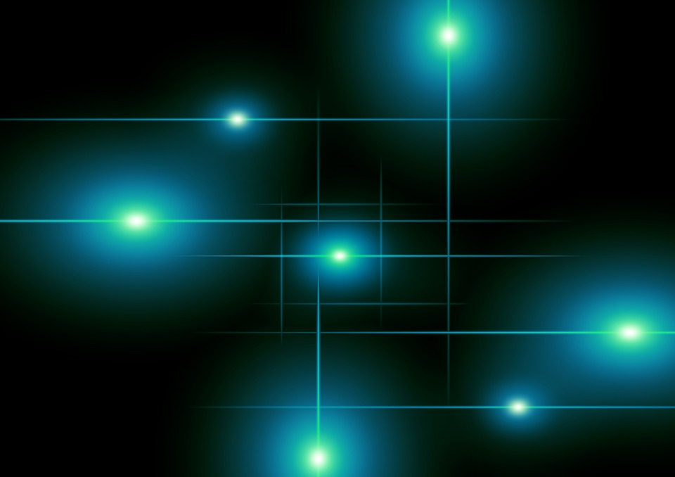 Light, Lighting, Blue, Night, Points, Light Source