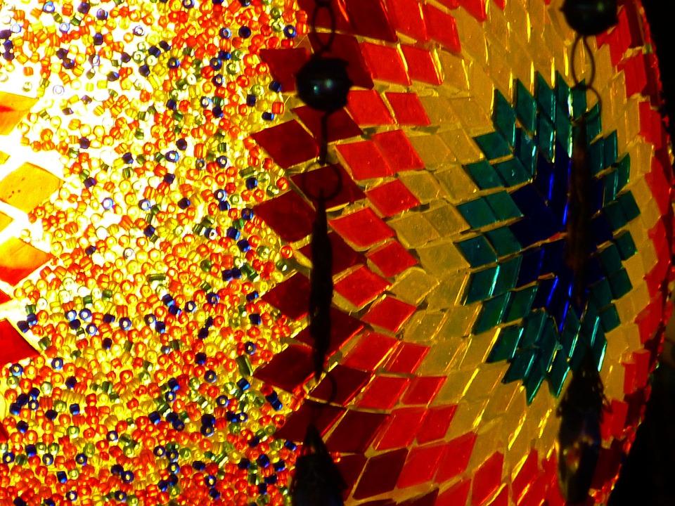 Colorful, Mosaic, Glass, Steinchen, Light, Lighting