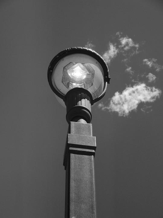 Light Pole, Light, Sky, Lamp, Power, Streetlight
