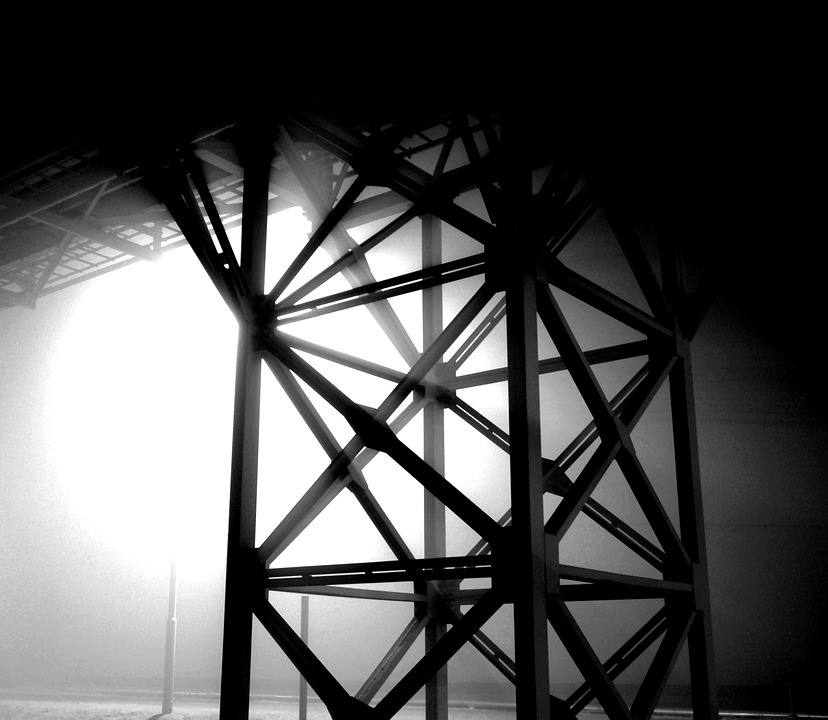 Structure, Steel, Fog, Light