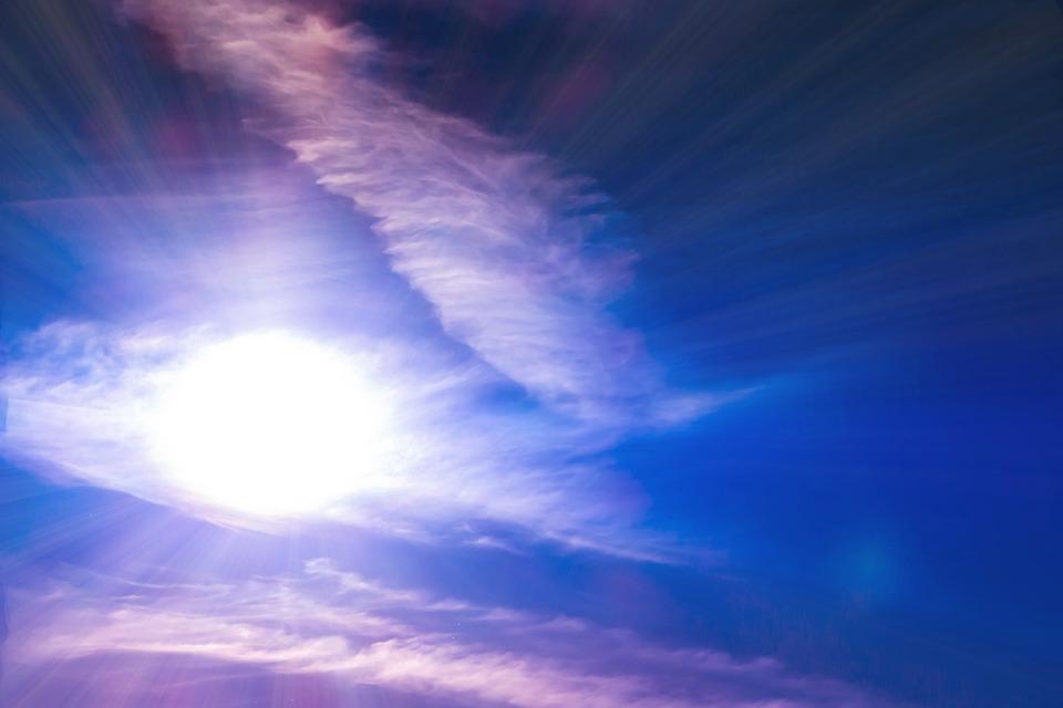 Sun, Sunbeam, Sky, Clouds, Light, Summer, Morning, Rays