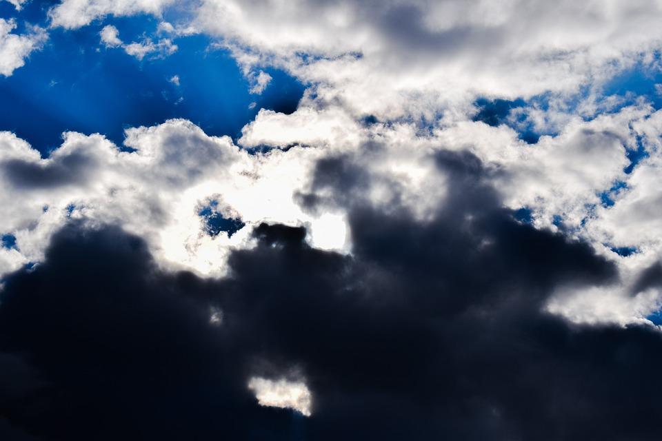 Clouds, Sunbeam, Sunlight, Light, Sky, Dramatic