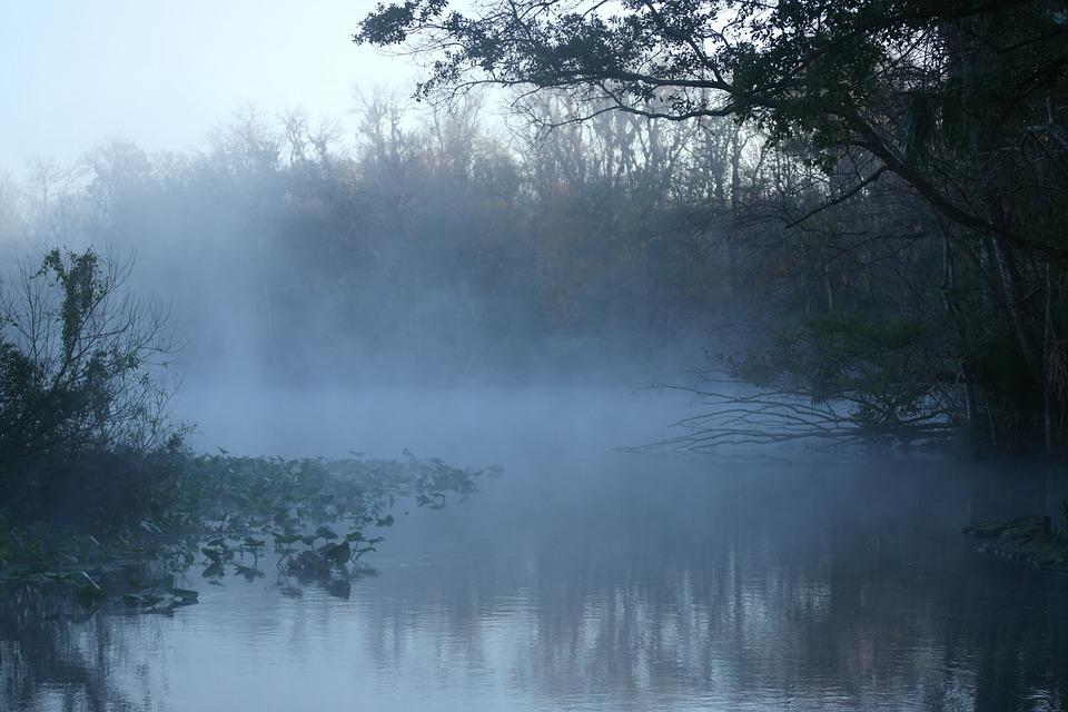 Fog, Water, Nature, Landscape, River, Sunrise, Light