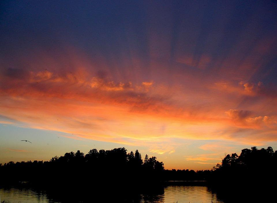 Sunset, Colors, Light, Mood, Water, Nightfall