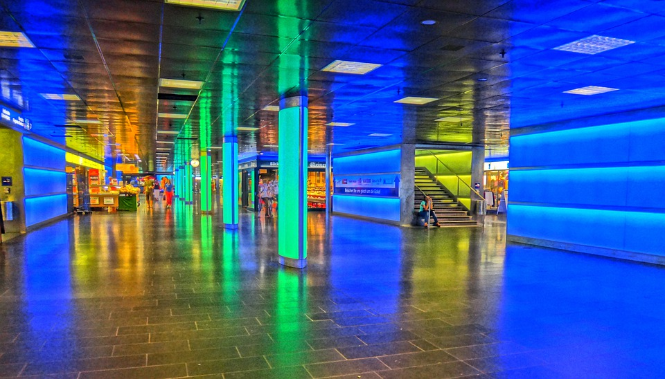 Zurich, Light, Movement, Zurich Main Station