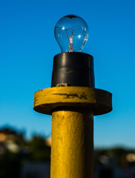 Light, Bulb, Blue Sky, Symbol, Lightbulb, Technology