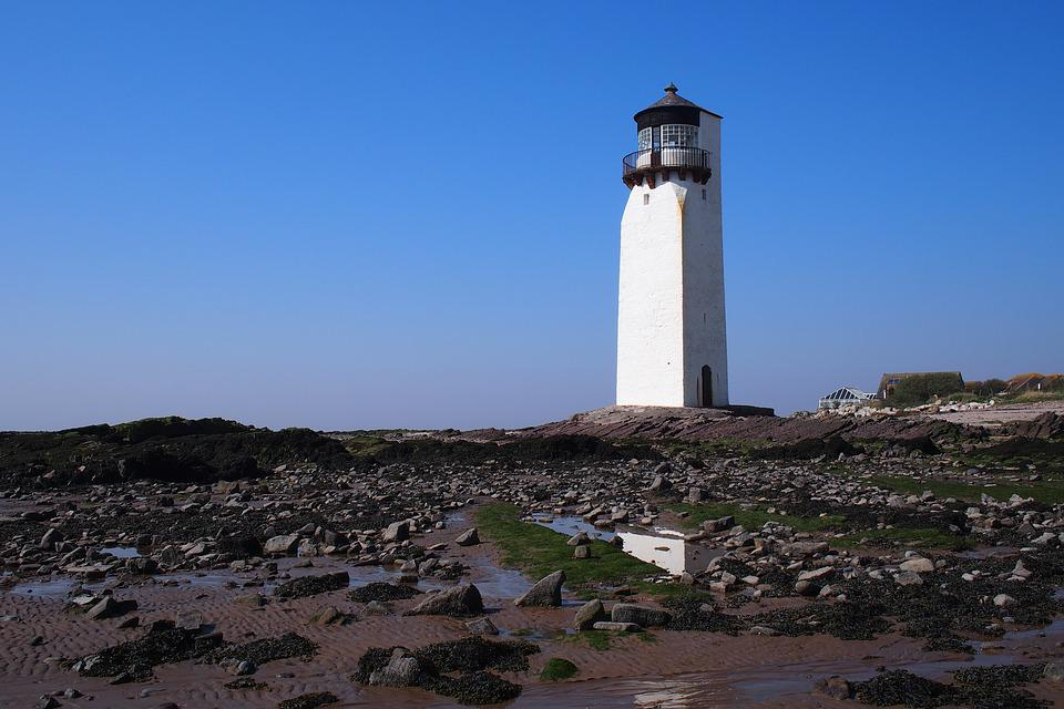 Lighthouse, By The Bay, Sea, Nautical, Navigation