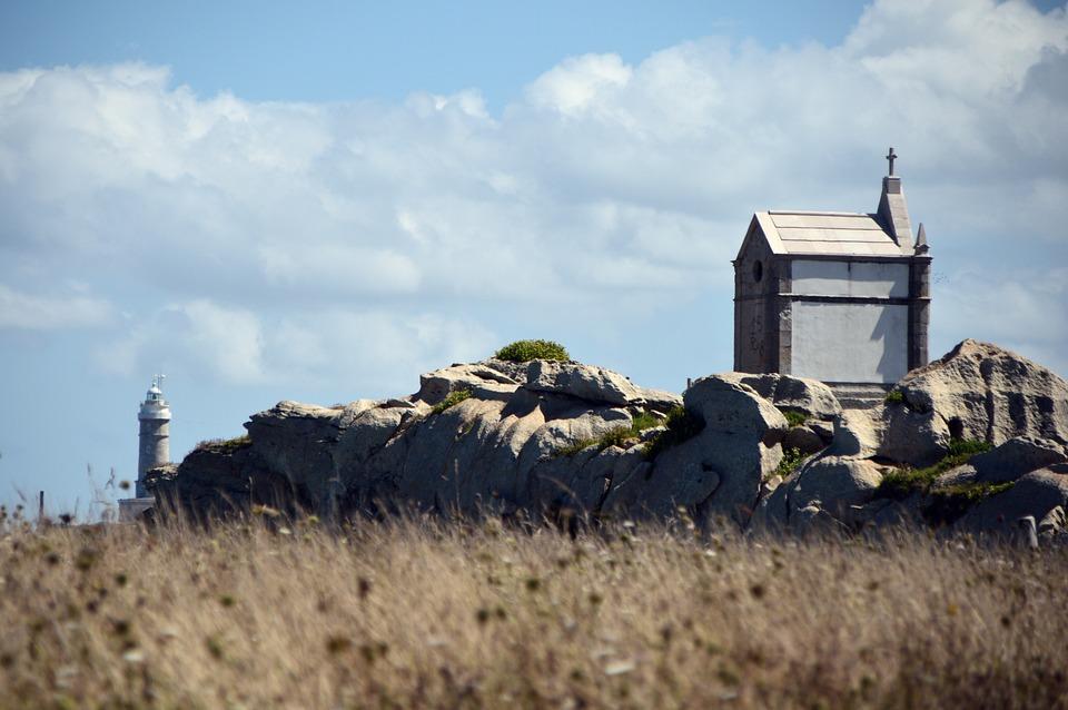 Church, Lighthouse, Landscape, Countryside, Spain