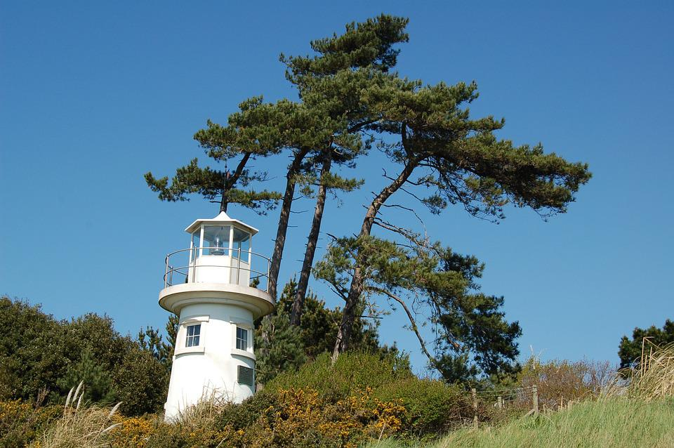 Lighthouse, Landscape, Cliff, Nautical, Beacon