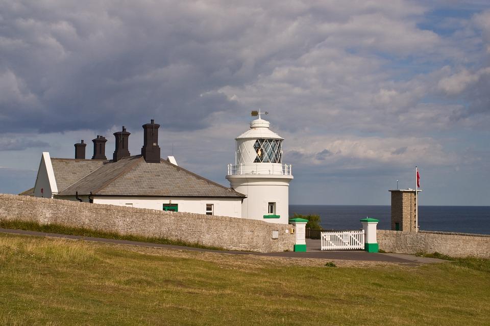 Durlston, Dorset, Coast, Lighthouse, Uk, British