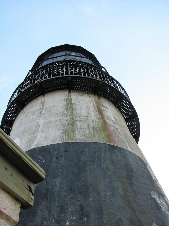 Lighthouse, Derelict, Cape Disappointment