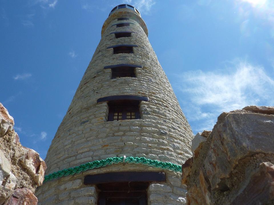 Lighthouse, Lighthouse Domalain, Blue Sky