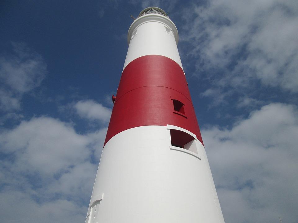 Lighthouse, Tall, Erect, Standing, High, Sea, Light