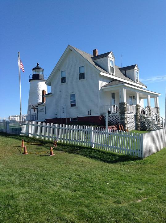 Maine, Lighthouse, New Harbor