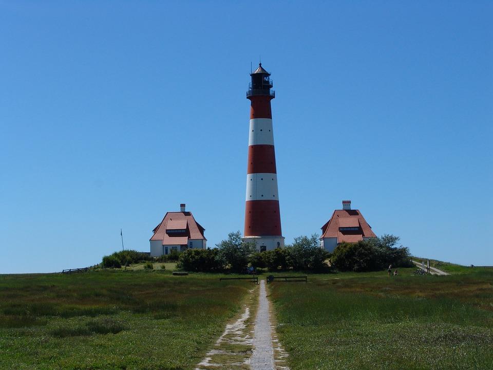 Westerhever, Lighthouse, Nordfriesland, Coast, Building