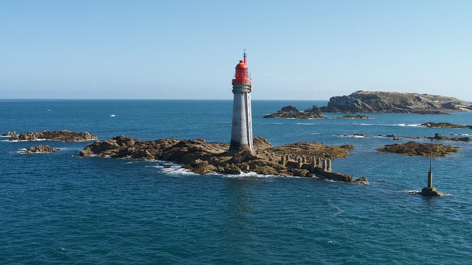 Lighthouse, Sea, Water, Ocean, Seashore