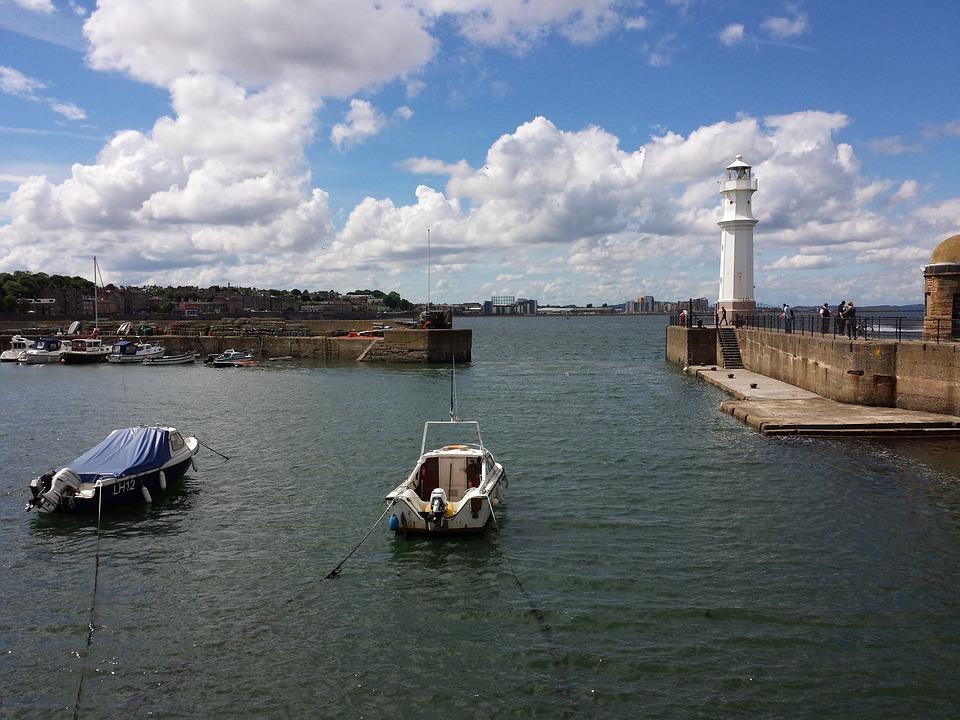 Newhaven, Edinburgh, Lighthouse, Boats, Port, Sea