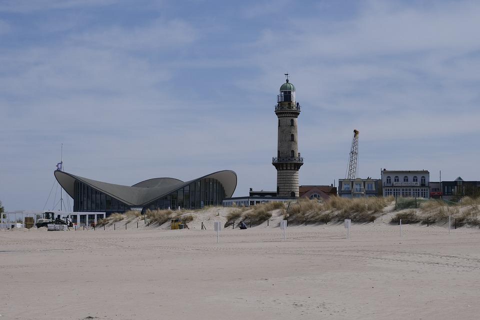 Warnemünde, Teepott, Lighthouse, Seaside Resort