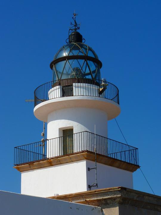 Lighthouse, Cap Creus, Spain, Sky, Building, Beacon