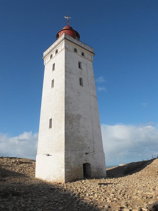 Denmark, Løkken, Lighthouse, Beacon, North Sea, Stand