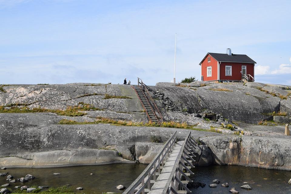 Söderskär, Suomi, Lighthouse, Island, Finland, Summer