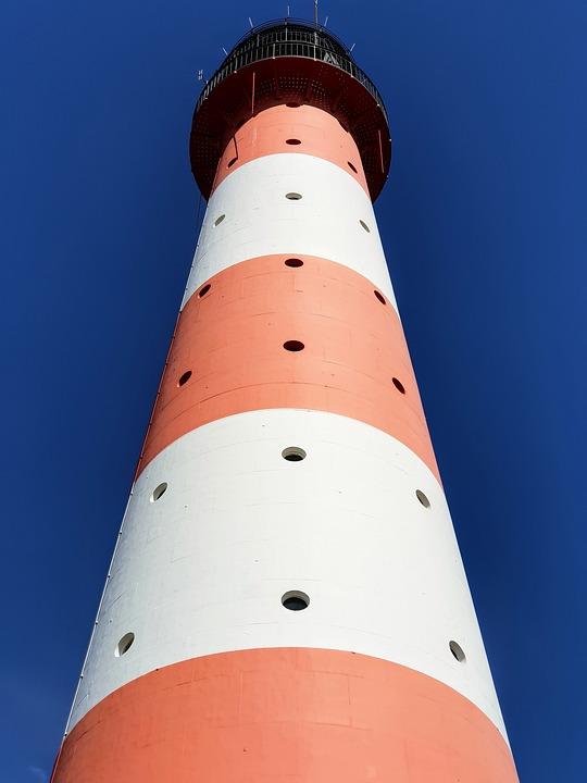 Lighthouse, Sky, Westerhever, St