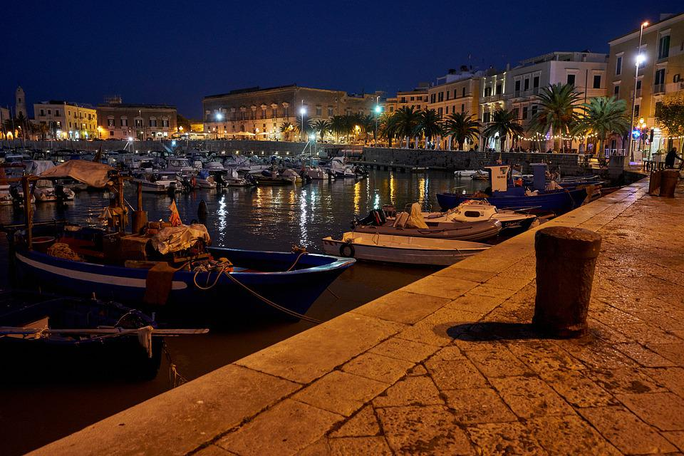 Port, Boats, Ship, Evening, Lighting